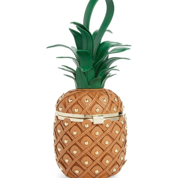 KATE SPADE By The Pool 3D Pineapple Novelty Bag